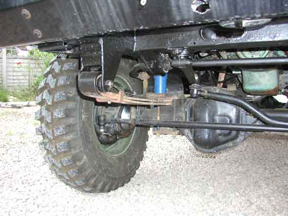 101GS front axle and steering assembly